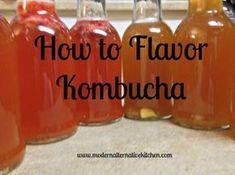 Strawberry Lemonade and Ginger Lemon flavored kombucha-so easy!