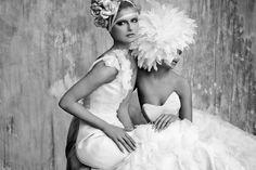 Irina Shabayeva white feather headpiece. sales@irinashabayeva.com