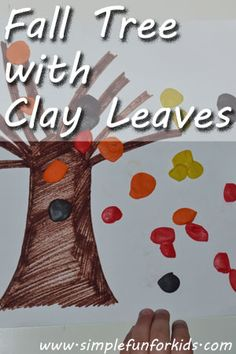 Fall Tree with Clay Leaves - Simple Fun for Kids
