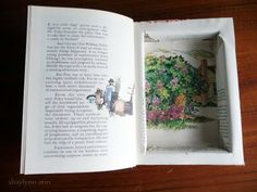 How to make a book safe, even though this hurts my heart. see the other post on bog about trying to do this with a scroll saw New Crafts, Book Crafts, Diy And Crafts, Paper Crafts, The Secret Book, The Book, Secret Box, Book Safe, Creative Storage