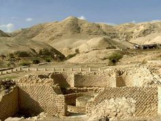 Ruins of Jericho. This is the city where Joshua circled around the walls 7 times in order for them to come crashing down.
