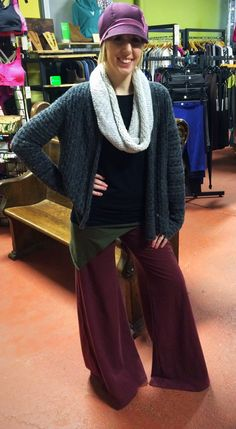 I've never been so comfortable, hemp pants, bamboo and alpaca.  Three of my most favorite fabrics!