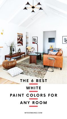 White paint colors that work for every room in your house.