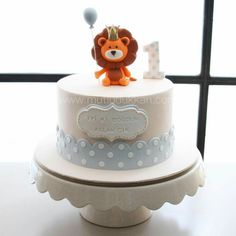 Super Baby Shower Cupcakes For Boy Safari 58 Ideas Birthday Cake Kids Boys, Lion Birthday, Baby Birthday Cakes, Baby Boy Cakes, Baby Shower Cupcakes For Boy, Cupcakes For Boys, Baby Shower Cakes, Bolo Panda, Lion Cakes