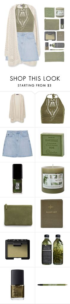 """""""≪ the aftermath"""" by xhopefulromanticx ❤ liked on Polyvore featuring Violeta by Mango, New Look, AG Adriano Goldschmied, Savon De Marseille, Jin Soon, Threshold, AERIN, FOSSIL, NARS Cosmetics and Lord & Berry"""