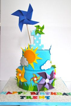Celebrate with Cake!: Pinwheel Themed Cake