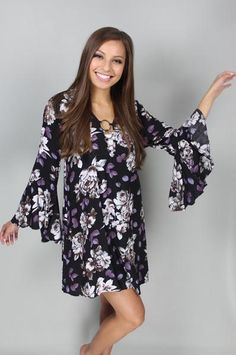 Falling for Florals Belle Sleeve Dress