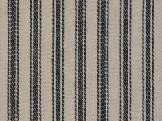 Black Woven Cotton Ticking Stripe Fabric Vintage inspired By The Yard