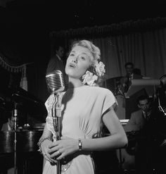 :June Christy and Red Rodney at Club Troubadour, New York, ca. Sept. 1947, by William Gottlieb