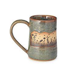 Alan Yarmark fills the band of his rustic mug with a spectacular, original illustration. Clay Mugs, Ceramic Mugs, Stoneware, Pottery Mugs, Pottery Art, Polish Pottery, Pottery Designs, Pottery Ideas, Rustic Mugs