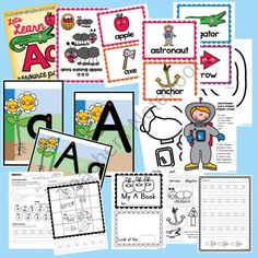 Let's Learn Aa - Teaching Phonics Packet product from From-the-Pond on TeachersNotebook.com