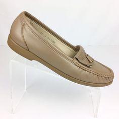 528d9a9c6889 SAS Size 10 S Kiltie Tassel Loafers Taupe Leather Tripad Womens Comfort  Shoes