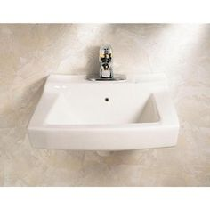 American Standard Declyn Wall-Mounted Bathroom Sink in White-0321.026.020 - The…