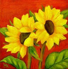 Sunflowers in Oil 6 x 6 -- Meltem Kilic