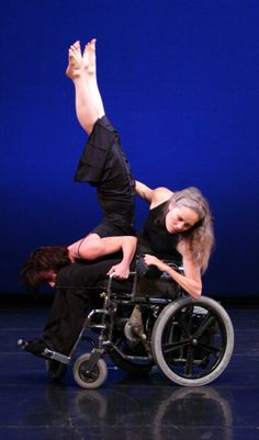 AXIS Dance Company dancers Sonsheree Giles and Judith Smith.