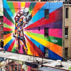 My heart skipped a beat over this mural... My favorite photo ever! I:heart:NY #HelloGorgeous #hellogorgeoustravels
