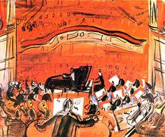 Red Concert Artwork By Raoul Dufy Oil Painting & Art Prints On Canvas For Sale Raoul Dufy, Georges Braque, Art Fauvisme, Maurice De Vlaminck, André Derain, Ouvrages D'art, Oil Painting Reproductions, Naive Art, Art Graphique