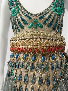 Costume (Fancy Dress): Paul Poiret; 1911, French, metal, silk, cotton. This fancy-dress ensemble was made for and worn to Poiret's 1002nd Night party in 1911, which was designed and organized to promote his new creations in the full splendor and glamour of the orientalist trend.