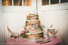 Aspen wedding cake country wedding light pink