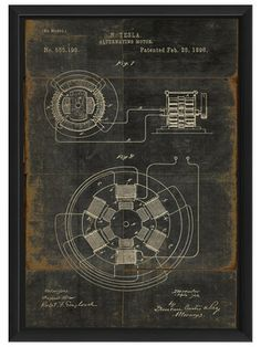 Art for Chic Geeks: Technical Drawings The Artwork Factory: Tesla motor patent