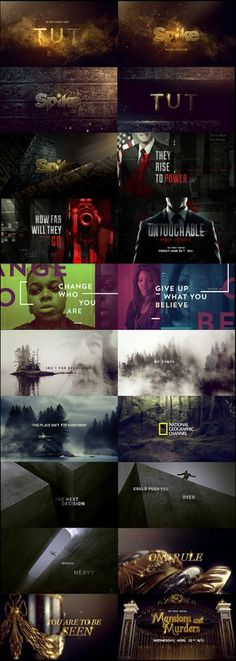 motion graphics/ storyboards/ styleframes   Promos Combo 2015