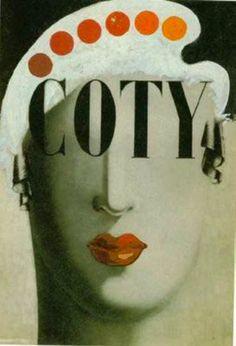 Xanti Schawinsky Poster Design'Coty' 1934.