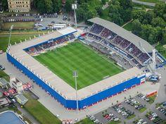 Doosan Arena - FC Viktoria Plzeň, Czech Republic Football Stadiums, Baseball Field, Czech Republic, Architecture, Arquitetura, Architecture Design, Bohemia