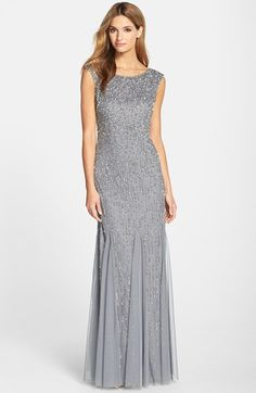 Adrianna Papell Embellished Mermaid Gown (Regular & Petite) available at #Nordstrom