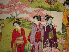 geisha spring blossoms apron