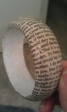 Lord of the Rings print bracelet.