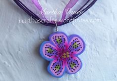 Pendant made with a flower cane.