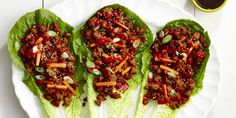 ​If you're looking for a healthy recipe that's not salad, these ground pork wraps are the answer.