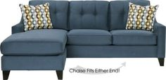 Shop for a Cindy Crawford Home Madison Place Indigo 2 Pc Sleeper Sectional at Rooms To Go. Find Sleeper Sectionals that will look great in your home and complement the rest of your furniture. Sectional Sleeper Sofa, Sofa Couch, Sofa Pillows, Blue Sectional, Couches, Sofa Beds, Bedroom Sofa, Leather Sectional, Yurts
