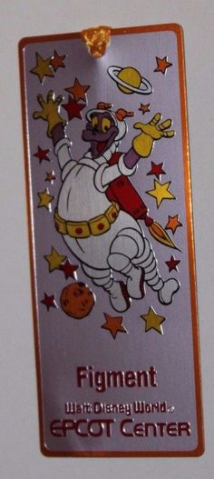 Figment Disney Bookmark Walt Disney World Epcot Center Donald Duck Mickey Mouse