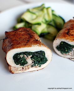 Chicken roll-ups with spinach