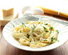 Comfort food at it's best, creamy and utterly satisfying Fettuccine Alfredo!  Simple to make yet exquisitely divine.  This dish to me is proof of how a few