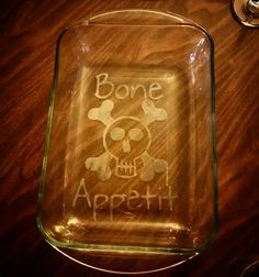 Check out this item in my Etsy shop https://www.etsy.com/listing/270617024/personalized-etched-casserole-dish