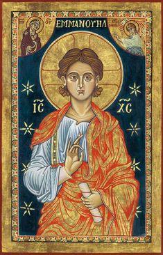 canonizedandotherwise: O Emmanuel, Rex et. Religious Images, Religious Icons, Religious Art, Byzantine Icons, Byzantine Art, Paint Icon, Sign Of The Cross, Orthodox Icons, Sacred Art