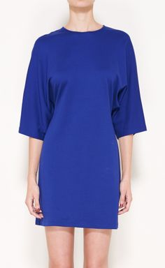 Jil Sander Royal Blue Dress | VAUNTE