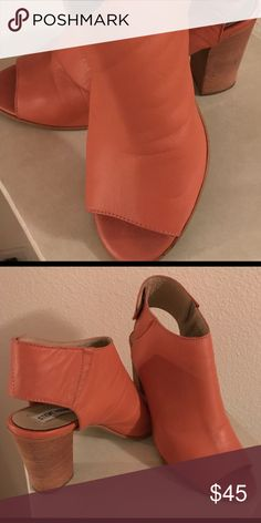 """Steve Madden ankle bootie salmon color Leather. Summer salmon bootie , Will pop any outfit 3""""  heel Snap @ ankle all leather comfortable.. worn 1 time..  Awesome DEAL! Steve Madden Shoes Ankle Boots & Booties"""