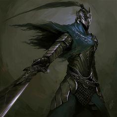fantasy-art-engine: Dark Souls Tryptich by Foxboss