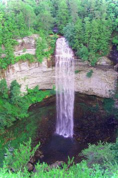 Fall Creek Falls, TN -- I have spent many hours hiking these falls and creeks and spelunking ;)  Good times, good times!