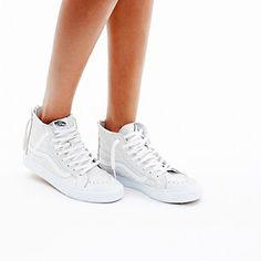 Madewell, Vans� SK8-Hi Slim Zip High-Top Sneakers in Crackled Suede #GIFTWELL