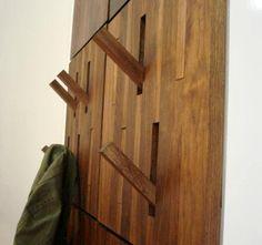 Hidden coat rack