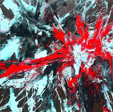 Nucleus - pictura abstracta acrilica - - -Costin Craioveanu
