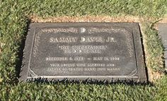 "THE GRAVE OF SAMMY DAVIS JR.  (his epitaph reads: ""The Entertainer: He Did It All"".) at Forest Lawn in Glendale, California"
