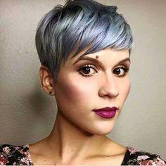 Grey Pixie Hair