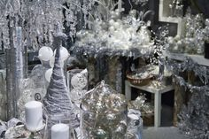 Silver and White Christmas Fairy Tale Inspirations Christmas Fairy, Christmas Home, White Christmas, Xmas, Elegant Christmas, Christmas Ideas, Merry Christmas, Christmas Ornaments, Fall Window Decorations