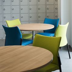 Breakout areas were fitted with tables and multi-purpose seating such as these fully upholstered Trillipse chairs Breakout Area, Terrace, Purpose, Conference Room, Tables, Chairs, Furniture, Home Decor, Balcony