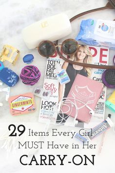 29 Items Every Girl MUST Have in Her Carry-on! You never want to be stuck without the essentials!